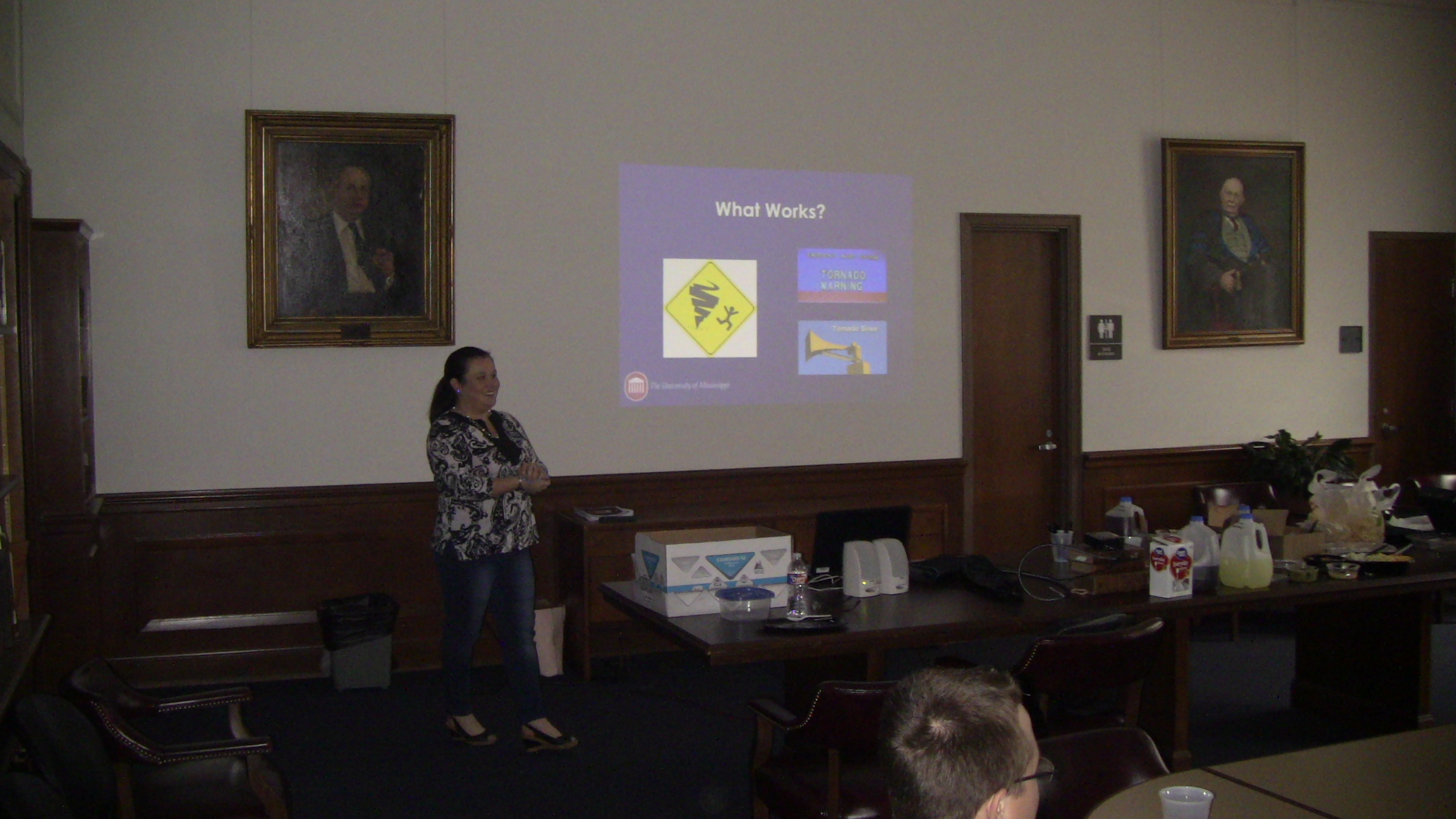 Cassie Luna presents during the AccessibiliTEA event during Disability History Month.