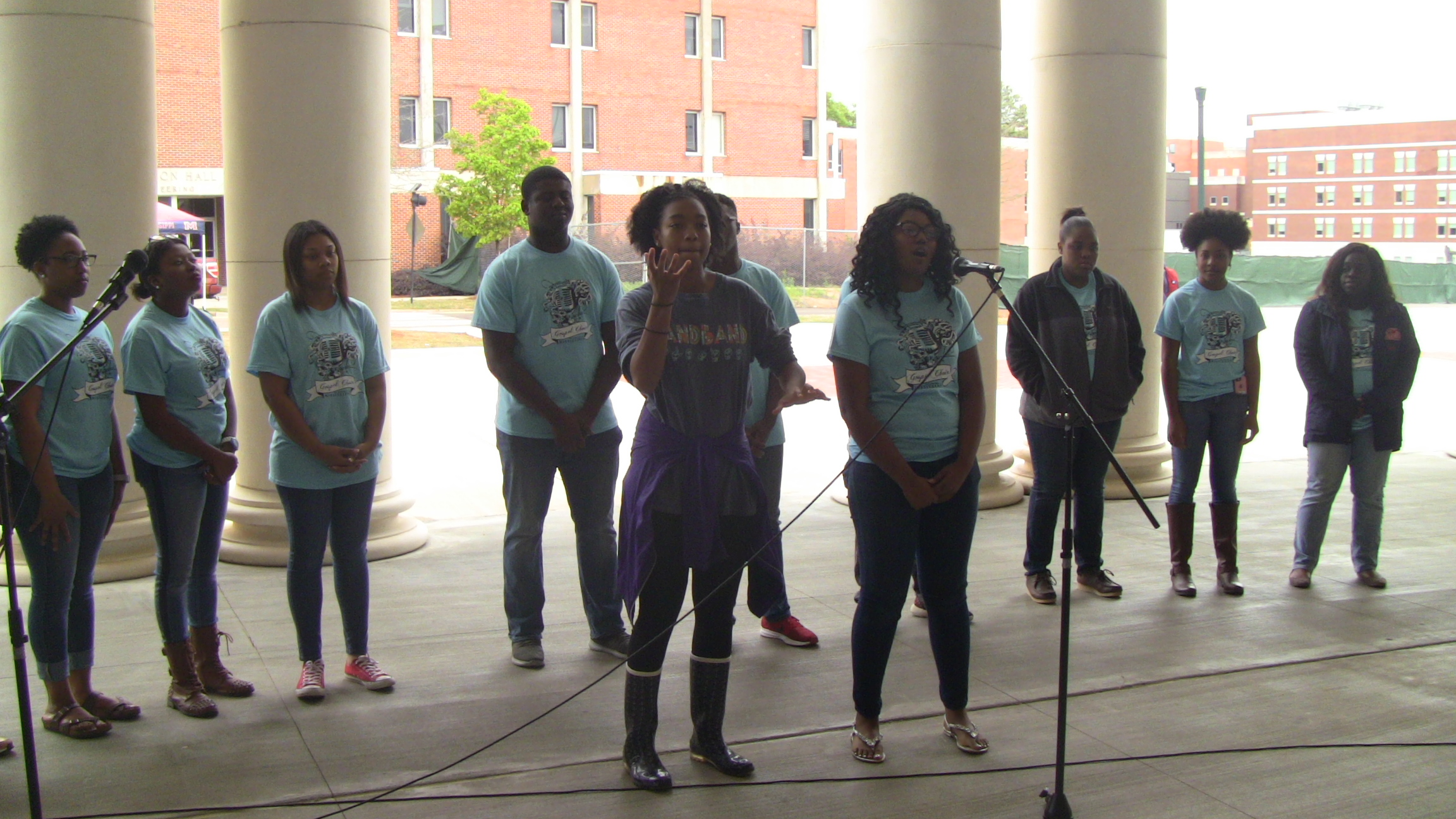 The OleMiss Gospel Choir entertains during Disability History Month.