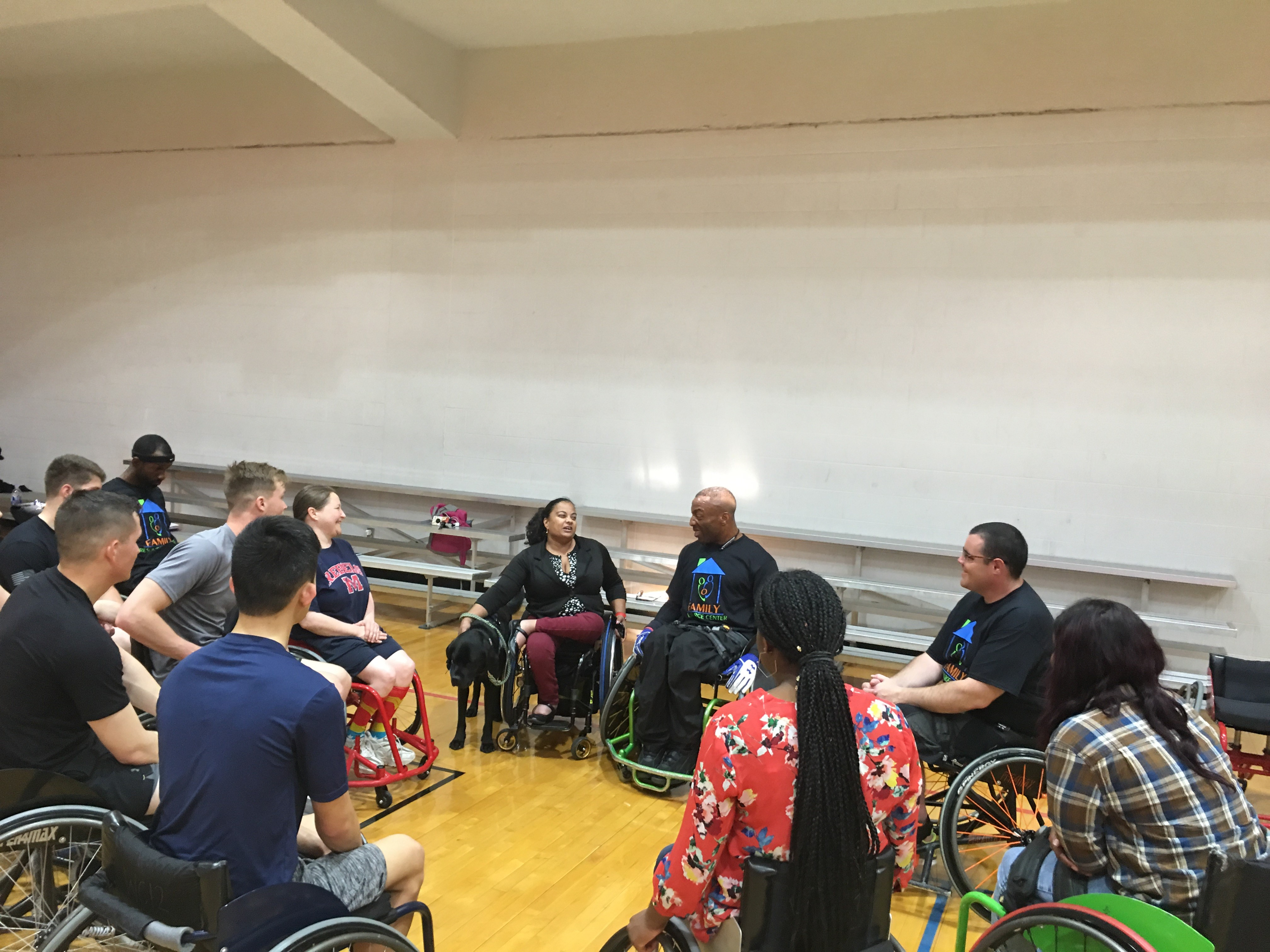 Anjali Forber-Pratt speaks to all the Wheelchair Basketballers during Disability History Month.